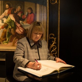 The first lady visited the Archdiocesan Museum