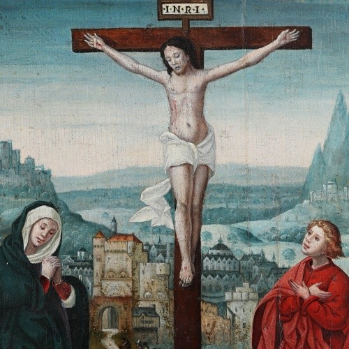 A novelty in the Picture Gallery of the Archdiocesan Museum - The Crucifixion from Hlučín